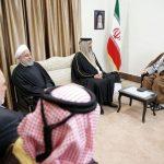 تصویری از دیدار امیر قطر با رهبر انقلاب اسلامی